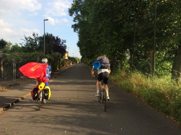 The Caped Crusaders, heading for Surrey
