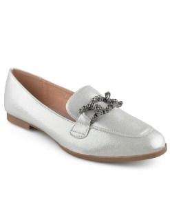 Дамски обувки 086-62 сребристо бели