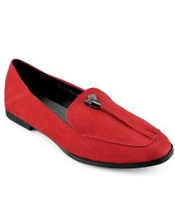 Дамски обувки 086-6 червени с панделка