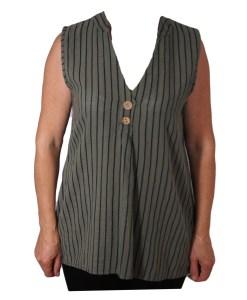 Дамска блуза 0019-564-40 райе цвят зелен