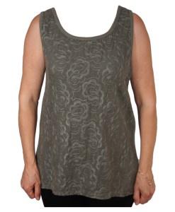 Дамска блуза 0019-564-62 с бродерия цвят зелен