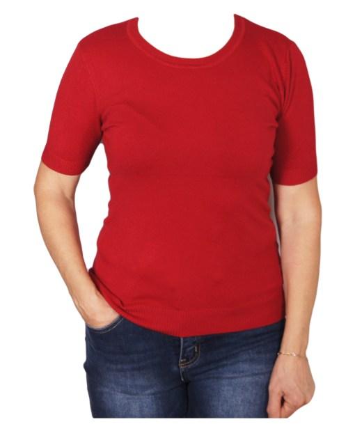 Дамски пуловер 2-397-13 цвят червен