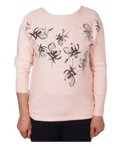 Дамски пуловер 2-394-61 цвят розов