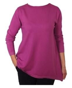 Дамски пуловер 2-393-4 цвят лилав