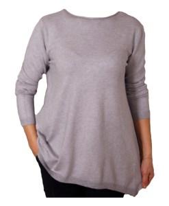 Дамски пуловер 2-393-3 цвят сив