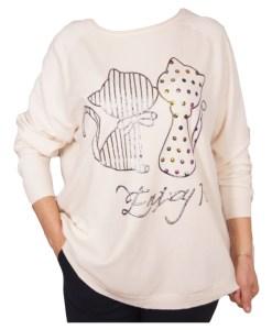 Дамски пуловер XL 2-396-15 цвят екрю