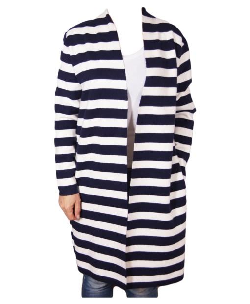 Дамска жилетка 20-101-5 синьо и бяло