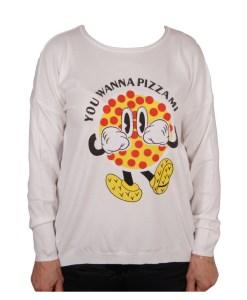 Дамски пуловер 2-400-63 весела картинка цвят бял