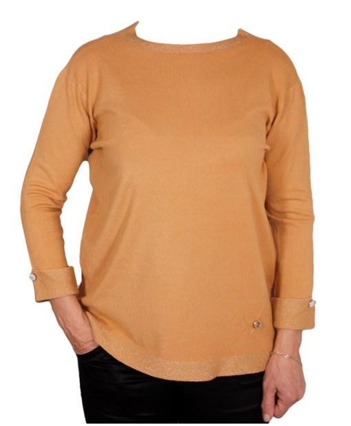 Дамски пуловер 2-399-34 цвят бежов