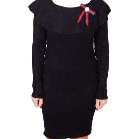 Дамска рокля 017-195-5 цвят черен