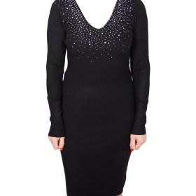 Дамска рокля 017-194-1 цвят черен