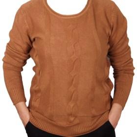 Дамски пуловер 2-400-72 цвят кафяв