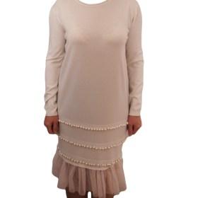 Дамска рокля 017-196-2 цвят розов