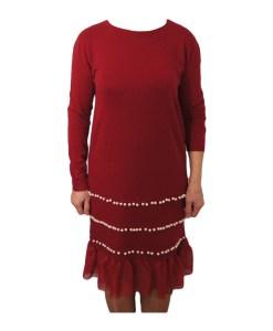 Дамска рокля 017-196-4 цвят червен