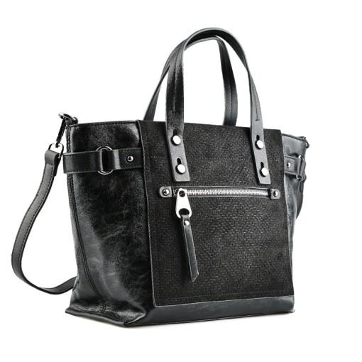 Дамска чанта 002-699-5 цвят черен
