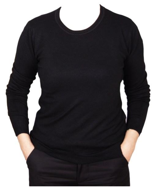 Дамски пуловер 2-387-64 цвят черен