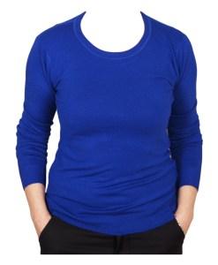 Дамски пуловер 2-387-60цвят син
