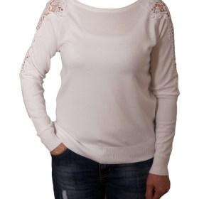 Дамски пуловер 2-386-4 цвят бял