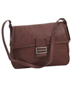 Дамска чанта 002-698-34 цвят тъмно кафяв