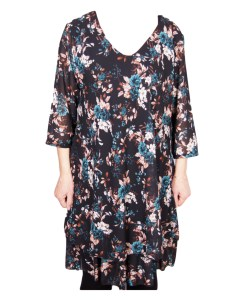 Дамска рокля XL 18-190-60 на цветя