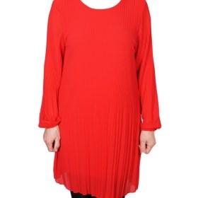 Дамска рокля XL 18-190-6 цвят червен