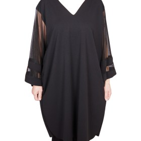 Дамска рокля XL 18-190-3 цвят черен