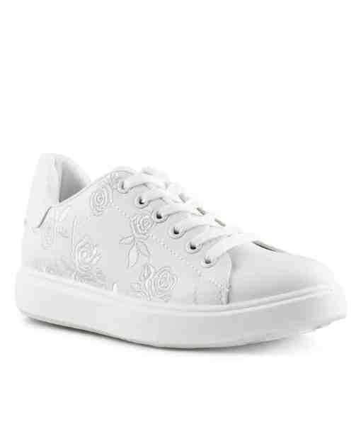 Дамски кец 585-5 цвят бял