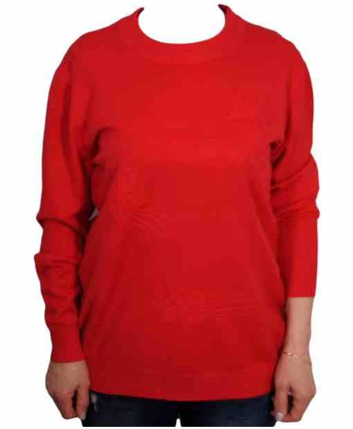 Дамски пуловер XL 2-391-1 цвят червен