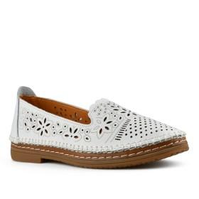 Дамски обувки естествена кожа 08-179-91 цвят бял