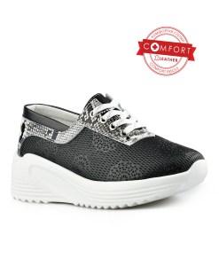 Дамски обувки естествена кожа 08-179-2 цвят черен