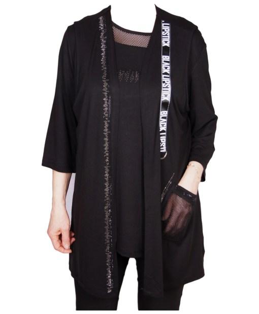 Дамска блуза XL 119-254-1 комплект с елек