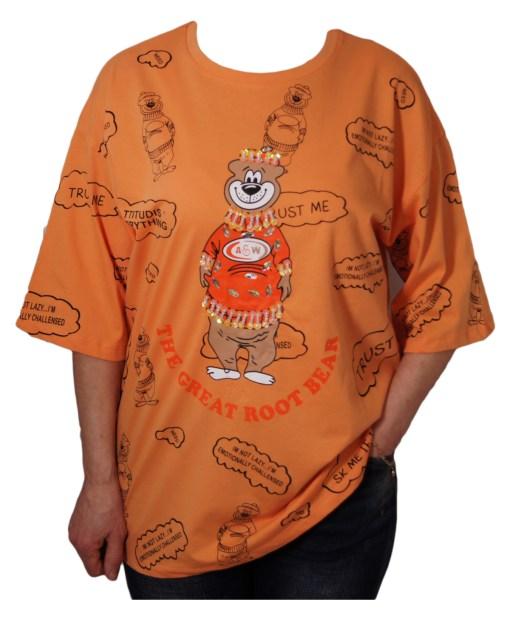 Дамска блуза 0019-565-52 цвят оранжев