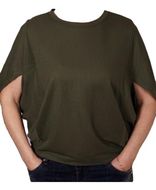 Дамска блуза 0019-565-51 цвят зелен