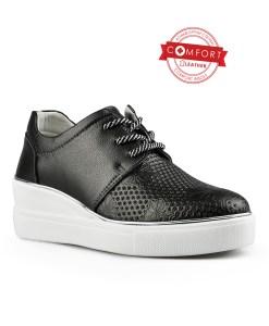 Дамски обувки естествена кожа 08-178-3 цвят черен