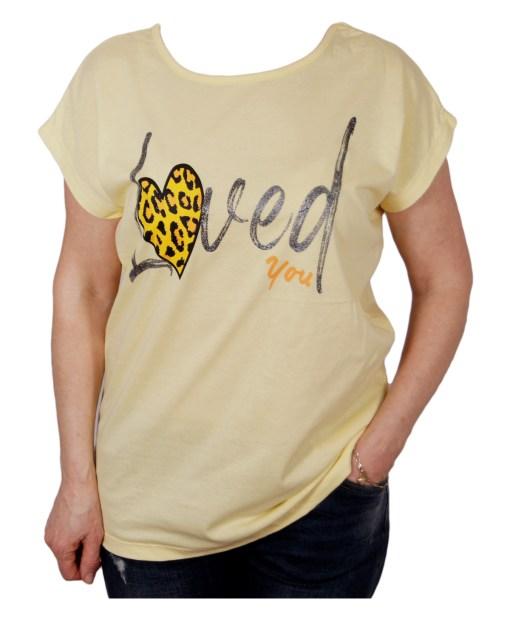 Дамска блуза 01-209-12 цвят жълт