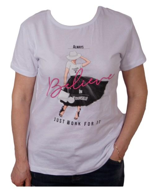 Дамска блуза 01-209-21 цвят бял