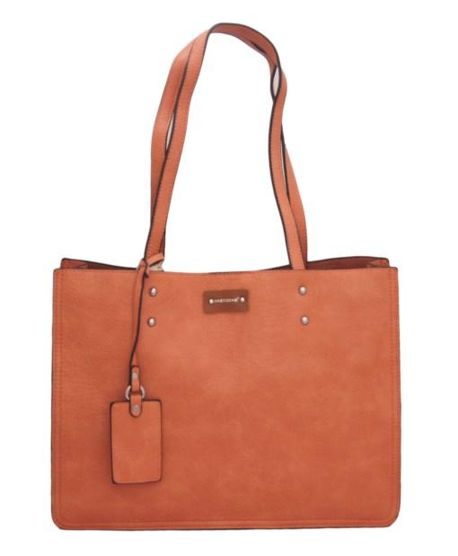 Дамска чанта 002-694-3 цвят сьомга