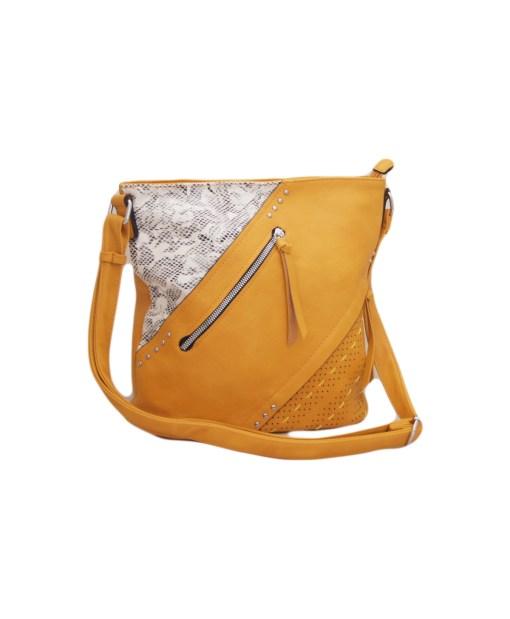 Дамска чанта 002-694-90 цвят горчица