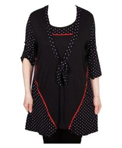 Дамска блуза XL 119-252-1 цвят черен