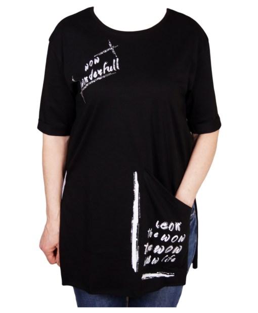 Дамска блуза 0019-564-53 цвят черен