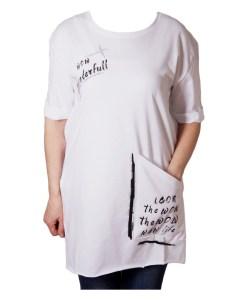 Дамска блуза 0019-564-54 цвят бял
