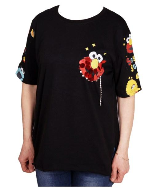 Дамска блуза 0019-565-28 цвят черен