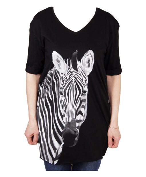 Дамска блуза 0019-564-3 цвят черен