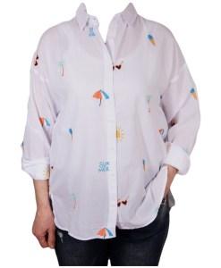 Дамска блуза 00-574-6 бяла