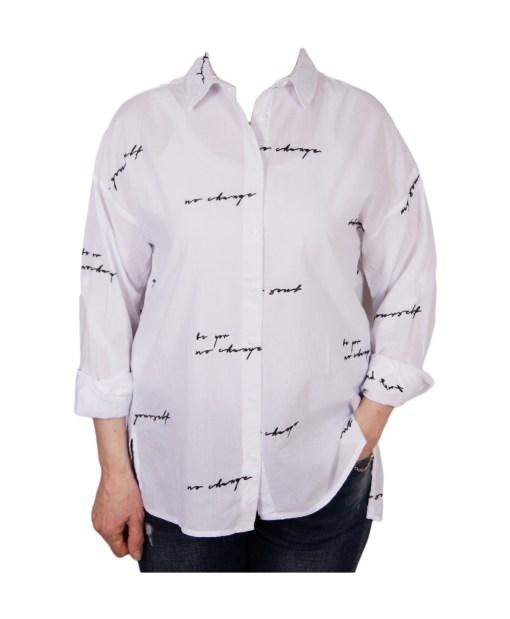 Дамска блуза 00-574-5 бяла