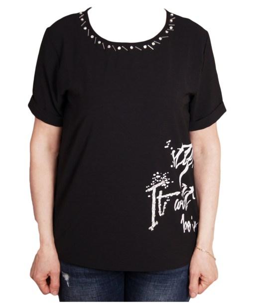 Дамска блуза 0019-563-2 цвят черен