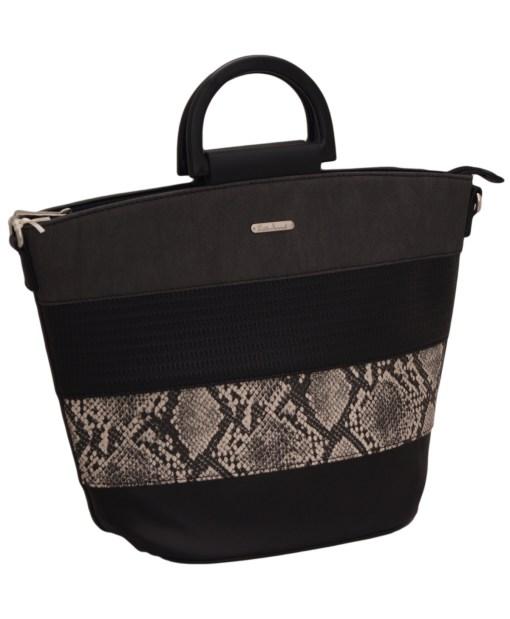 Дамска чанта 002-692-5 цвят черен