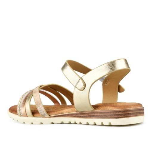 Дамски сандали 21-100-5 цвят златно и кафяво