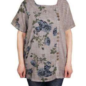 Дамска макси блуза XL 21-099-2 цвят зелен