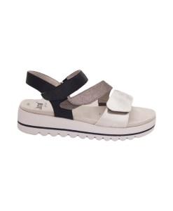 Дамски сандали 21-99-4 цвят синьо и сребърно